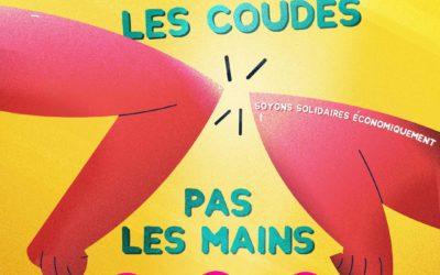 """HappyBizDev/Brochet-Teambuilding prend part à la campagne de solidarité économique """"Serrons-nous les coudes pas les mains"""" pour surmonter la crise du COVID-19 !"""